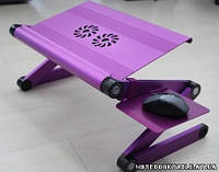 Металлический столик для ноутбука n-A8 + подставка под мышь (ЕСТЬ только черный!)