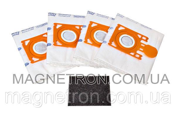 Набор мешков (4шт) 3,5L + фильтр мотора для пылесоса Thomas SmartTouch 787252, фото 2