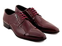 Туфли бордо мужские лаковые