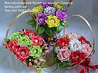 """Небольшие конфетные корзинки роз """"краски художника""""№7"""