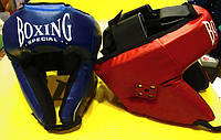 Защитный кожаный шлем для бокса Boxing (Украина), фото 1
