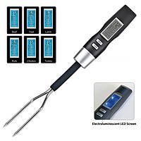 Профессиональный цифровой термометр-вилка для мяса DIGITAL FORK S-221 (0-100C) с 5 режимами.