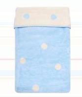 Одеяло деткое двухстороннее в горошек Womar  75 x 100 cм  60*40