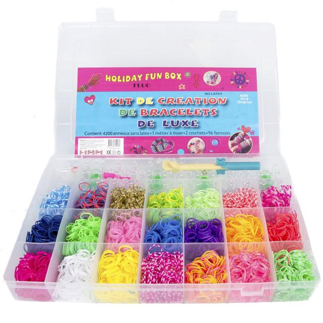Набор для плетения браслетов из резинок магазины