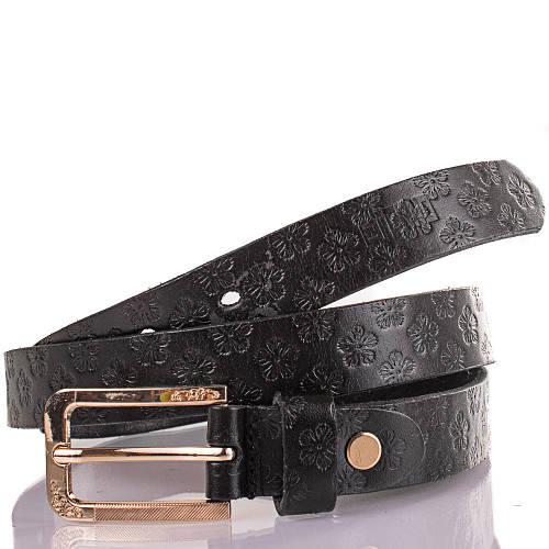 Женский кожаный ремень ETERNO (ЭТЕРНО) ETS608-2 черный