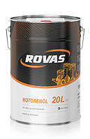 Моторное синтетическое масло Rovas 5W-30 (20л)/ для бензиновых и дизельных двигателей легковых авто