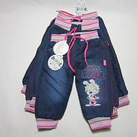 Джинсы на  махре для девочки Зайка. Размер 1 - 4 года