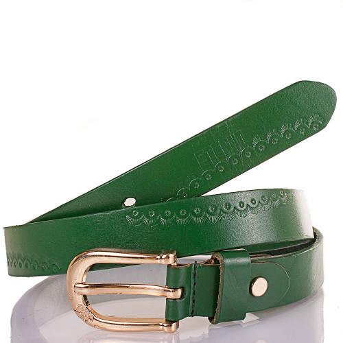 Женский кожаный ремень ETERNO (ЭТЕРНО) ETS5030 зеленый