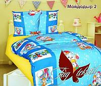 """Детский комплект постельного белья 1,5 спальный """"Мойдодыр 2"""" цвет синий"""