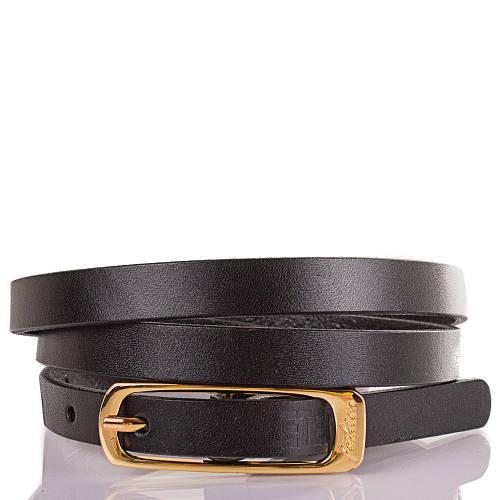 Женский узкий кожаный ремень ETERNO (ЭТЕРНО) ETS5152-2 черный