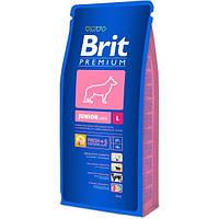 Корм для собак Brit Premium Junior L 15 кг, брит для щенков и юниоров крупных пород собак