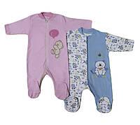 Человечек для новорожденных с вышивкой