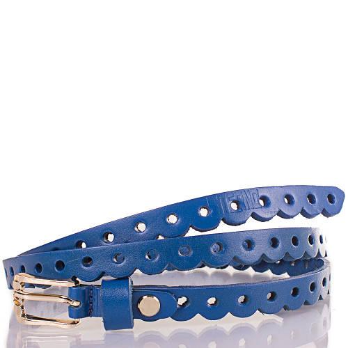 Женский узкий кожаный ремень ETERNO (ЭТЕРНО) ETS7390-6 синий