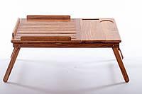 """Столик для """"Завтрака в постели"""" плюс Компьютерный столик трансформер для ноутбука, планшета. Два в одном."""