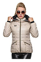 Женская куртка размер плюс Анжелика жемчуг, фото 1