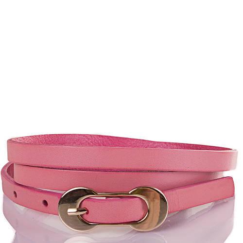 Женский узкий кожаный ремень ETERNO (ЭТЕРНО) ETS7378-11 розовый