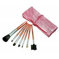 Кисти MAC 7 штук в чехле Pink, кисточки для макияжа