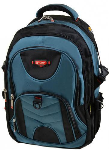 Отличный городской рюкзак из нейлона Power In Eavas 34 л. 9714 light-blue, светло-синий