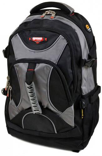 Качественный  городской рюкзак из нейлона Power In Eavas 32 л. 8706 grey, серый