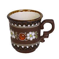 """Глиняная посуда """"Чашка для кофе Вишенка"""""""