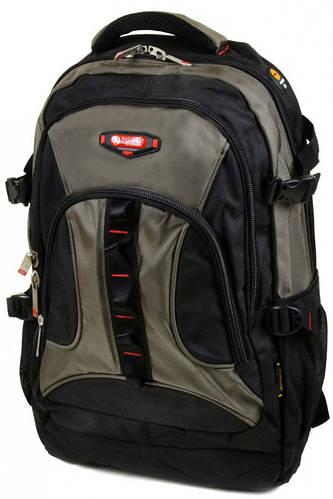 Замечательный городской рюкзак из нейлона Power In Eavas 45 л. 8701 dark-green, темно-зеленый