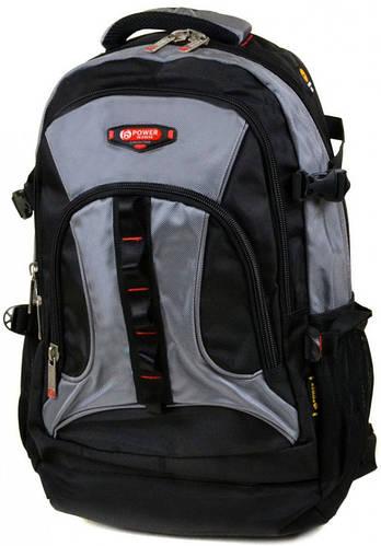 Вместительный городской рюкзак из нейлона Power In Eavas 45 л. 8701 grey, серый