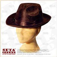 Коричневая гангстерская шляпа карнавальная