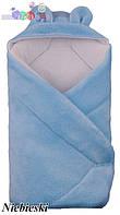 """Конверт - одеяло для новорожденного с капюшоном  coral fleece (голубой )  """"Duetbaby"""""""