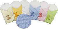 """Конверт - одеяльце  для новорожденного """"ЖЕМЧУЖИНКА"""" голубой """"Duetbaby"""""""