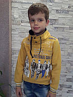 Модная толстовка для мальчиков Янтарь с мехом