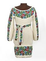 Женское платье Маки и васильки с кокеткой | Жіноче плаття маки і волошки з кокеткою