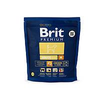 Корм для собак Brit Premium Junior M 1 кг, брит для щенков и юниоров средних пород собак