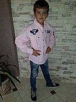 Модная рубашка на мальчиков Розовая