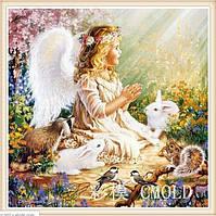 """Алмазная живопись - набор """"Прелестный ангел в саду"""""""