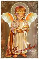 """Набор для рисования камнями """"Ангелочек со свечой"""""""