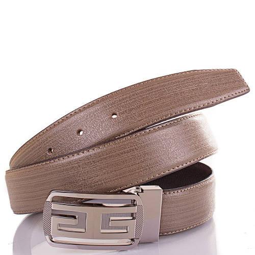 Ремень мужской кожаный ETERNO (ЭТЕРНО) ETS2406-12 серо-коричневый