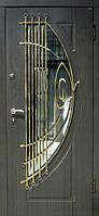 """Входная дверь с ковкой и стеклом для улицы """"Портала"""" (Элит Vinorit) ― модель Ковка 32"""