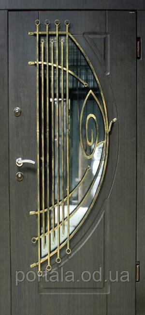 металлические двери для улицы с ковкой