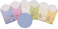 """Конверт -одеяло для новорожденного Вафельный (голубой) """"Duetbaby"""""""