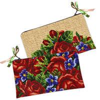 Косметичка-кошелёк с цветочным принтом