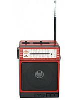 Радиоприемник колонка MP3 Golon RX-077 Red LED фонарик Вход для микрофона Функция караоке Будь в курсе новости