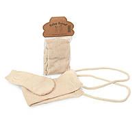 Лента массажная и рукавичка из хлопка 12018