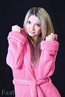 Махровый халат для дома розовый 48-50 размер