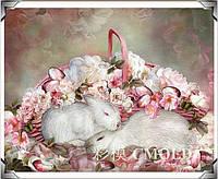 """Набор для алмазной мозаики """"Кролики в цветах"""""""