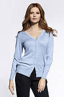 Женский свитер голубого цвета 20002 Enny, коллекция осень-зима 2016
