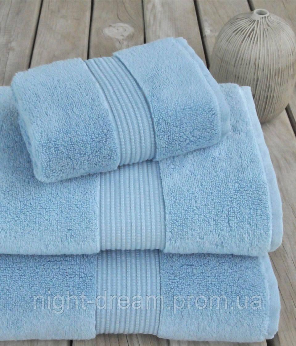Махровое полотенце 30х50 MASAL от Eke Home голубой