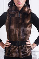 Купить женский меховый жилет от производителя