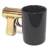 Чашка кружка пистолет ЗОЛОТОЙ