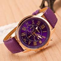 Часы наручные женские Roman Geneva Женева фиолетовые