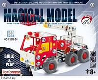 Конструктор металлический Пожарная машина 816B-24, 169 деталей